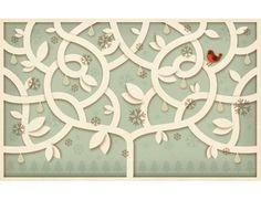 12 Days of Christmas | Jessica Hische #hische #tree #illustration #jessica #postcard #winter