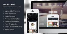 Rocket App - Mobile App Landing Page WordPress Theme