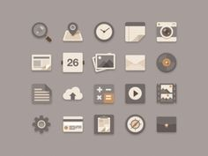 Flat Icons Brownie Theme #icons