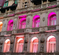 18 Cool Color Blocked Buildings | Brit + Co. #pink #building #lights