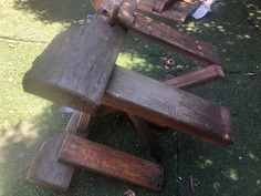 Restoration Staining outdoor furniture