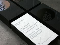 Black Cosmic - by Studio on Fire #letterpress #cards #business