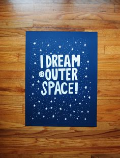 I Dream of Outer Space (reprint) #illustration #drawing #screen print #poster #print #space #outer space
