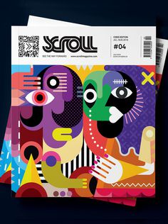 Scroll Magazine - Designer Cover #design #illustration #Cover #magazine #typography
