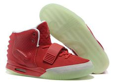 Air Yeezy 2 Red Grey Nike Mens Size Shoes #shoes