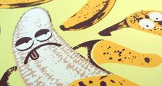 Doe Eyed / Design & Illustration #fruit #illustration #screen print