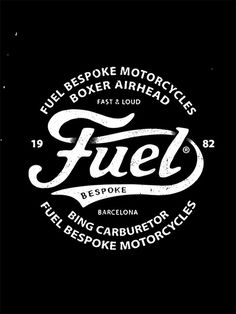 Fuel Motorcycles - New logo #script #fuel #bmd #type #motorcycle #typography