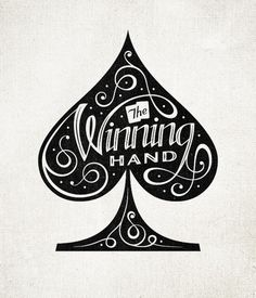 Dribbble - The-Winning-Hand-Spade-large.jpg by Seth Nickerson #spade #lettering #hand