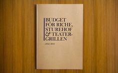 Budget_cover #design #annual #cover #report #typography