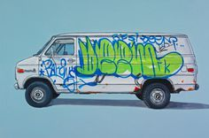 Unusual Vehicles Oil Paintings by Kevin Cyr | Abduzeedo | Graphic Design Inspiration and Photoshop Tutorials #van