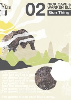 Andrew McAlpine ///// Graphic Design //////// #nick #gun #cave #landscape #warren #ellis