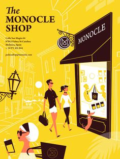 Monocle Palma Ad #illustration #monocle
