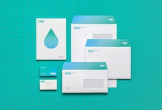 DAM. Corporate identity on Behance