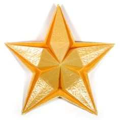 How to make an embossed five-pointed origami star ( http://www.origami-make.org/howto-origami-star.php)