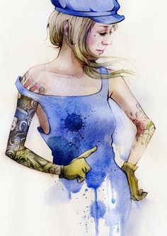portraits on the Behance Network #larin #tattoo #behance #dmitriy #art #rebus #watercolor