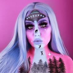 UFO Aliens Halloween makeup