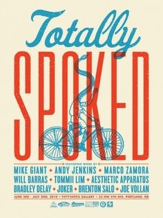 totally_spoked1.jpg 495×660 pixels #bike #poster #typography