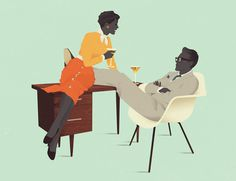 Jack Hughes Illustration #illustration #jack #vintage #hughes #cocktails