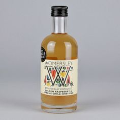 Woo Shop — WOMERSLEY VINEGAR - GOLDEN RASPBERRY & APACHE CHILLI #package #typography