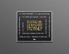 The Good The Bad and The Zugly on Typography Served #zugly #the #bureau #bruneau #and #good #bad