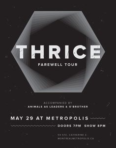 Concert poster on Behance #white #montreal #black #poster #music #band
