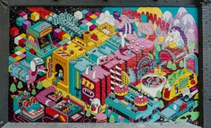 Outstanding murals by Dave Arcade - BELIEF IN THE MAKING