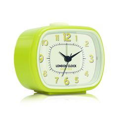 London Clock Company 'GEO' Alarm Clock, Yellow 8.5cm x 10.5cm x 5.5cm