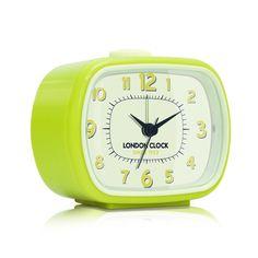 London Clock Company 'GEO' Alarm Clock, Yellow 8.5cm x 10.5cm x 5.5cm