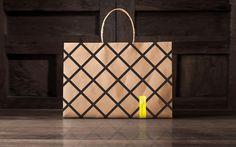 Montero on Behance #anagrama #branding #packaging #stripes #black #restaurant #bag #paper