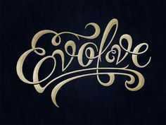 Typeverything.com - Evolve by Simon Ã…lander. - Typeverything #script #evolve #drawn #type #hand