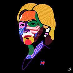 Hillary #illustration #pattern #mkrnld #portrait #hillary #usa #america #abstract