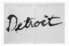 Michael Freimuth #type #detroit #oil #typography