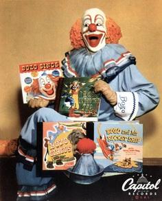 Bozo the clown statue and merch