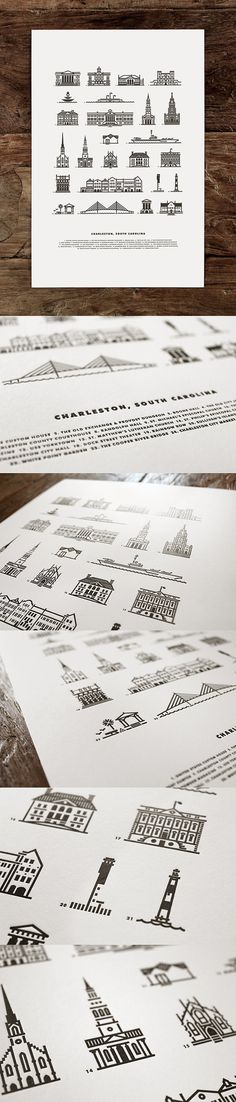 J_fletcher_charleston_25_detail #illustration #poster #letterpress #buildings #charleston