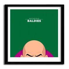 Notorious Baldie LEX LUTHOR by Mr Peruca #print