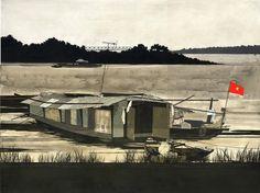 hecox_red_river_houseboat.jpg (JPEG Image, 1200x897 pixels) #print #denver #colorado #evan #art #hecox