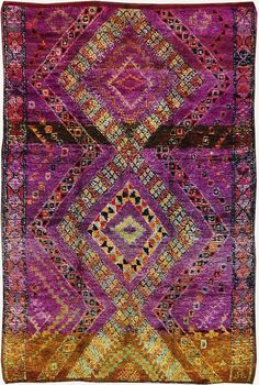 vintage tribal Moroccan rug azilal tribe 50 Most Dramatic, Gorgeous, Colorful Area Rugs for Modern Living Rooms