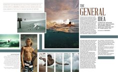 Portfolio / Print / Surfer Sample Spread #design #layout #spread #editorial #surf #blue