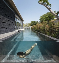 Contemporary Pavilion Residence with Linear Swimming Pool 2