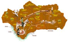 House And Garden   Andalusia Map by The Tree House Press/Marc Aspinall