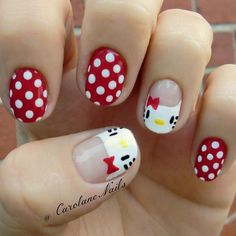 Cute and simple. The white and red shades topped with polka dots and Hello Kitty's cute face is simple charming. Very creative and can be