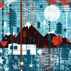 hoh2010_andrewBeckman_0004_camper_pannel.jpg 500×500 pixels #illustration #mountains #trees