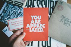 You are appreciated. || Adam Garcia #design #typography