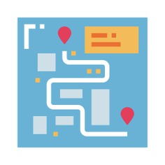 See more icon inspiration related to pointer, maps and location, street map, map pointer, map point, placeholder, position, pin, map, location and gps on Flaticon.