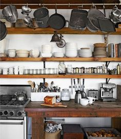 Brick, Stone, Wood and Concrete: 15 Beautiful, Rustic Kitchens | Apartment Therapy #cucina #wood #kitchen #tavolo