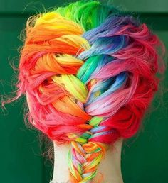 Rainbow Hair | AnOther | Loves #hair #color