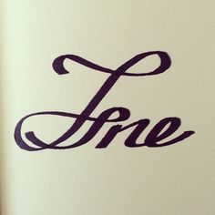 Fine's Art #calligraphy #lettering #fine #pen #hand #typography