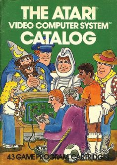 Atari - The Atari Video Computer System Catalog | Flickr - Photo Sharing! #games #video #illustration #manual #booklet