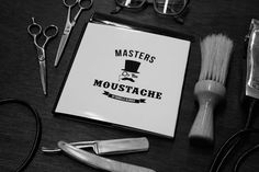 Masters of the Moustache #barber #identity #branding #moustache