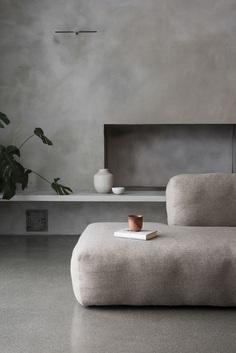The Gjøvik House – Minimalissimo #minimalism #interiordesign #gray #sofa
